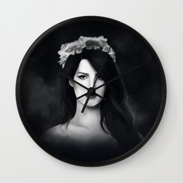 Dark Paradise (B&W) Wall Clock