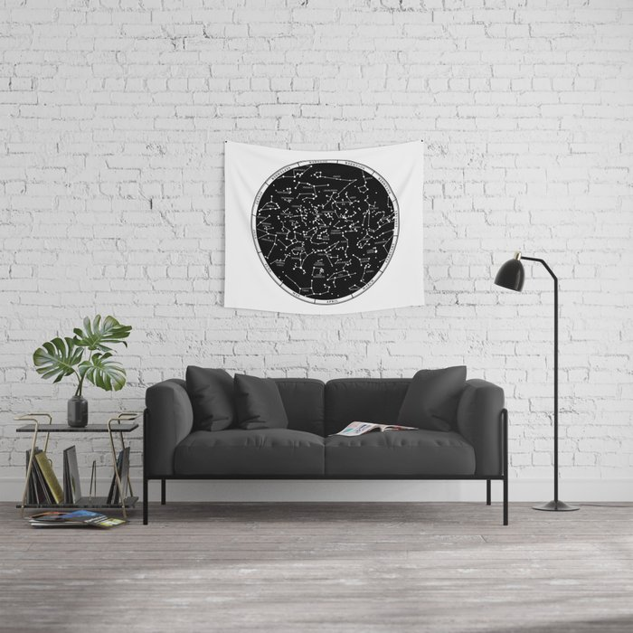 Star Map  Wall Tapestry