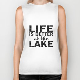 Black Life is Better at the Lake Women_s Camping Hiking Camp Biker Tank