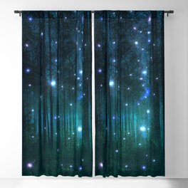 Glowing Space Woods Blackout Curtain