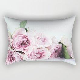 Flower White Rectangular Pillow