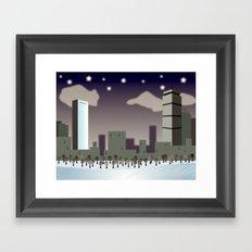 Back Bay Winter Framed Art Print