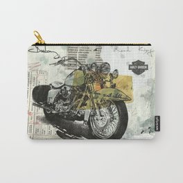 Motorcycle Bike Davidson Wall Art print Drawing Painting Collage Carry-All Pouch