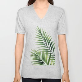 Palm leaves. Unisex V-Neck