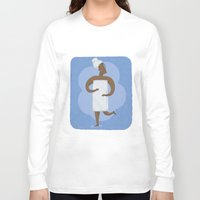 shower Long Sleeve T-shirts featuring Shower by Sally Townsend