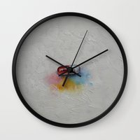 happiness Wall Clocks featuring Happiness by Michael Creese