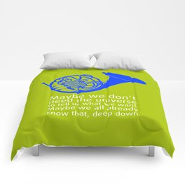 Blue French Horn Comforters