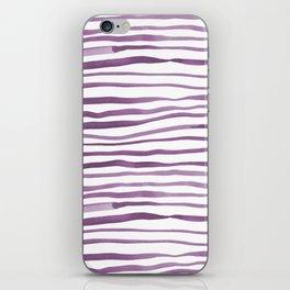 Irregular watercolor lines - ultra violet iPhone Skin