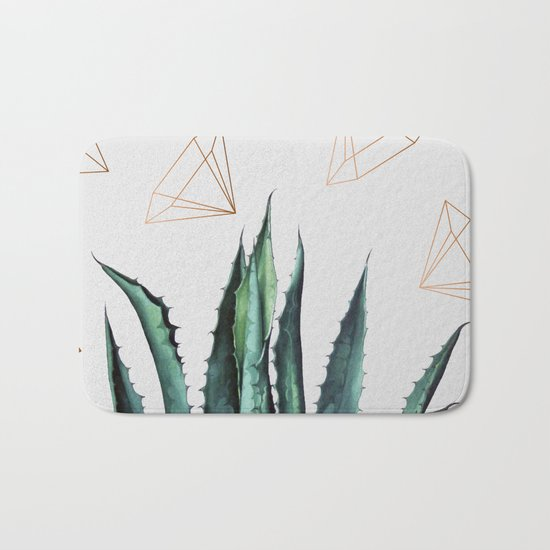 Agave Geometry #society6 #decor #buyart Bath Mat