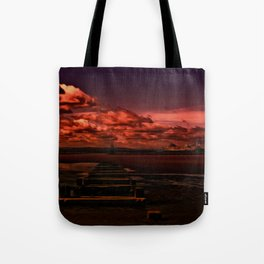 Passing Another Place Tote Bag