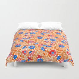 Andean Flowers (Blue & Red) Duvet Cover
