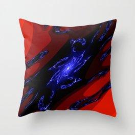doppel deep blue Throw Pillow
