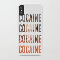 lindsay lohan iPhone & iPod Cases featuring LINDSAY LOHAN - COCAINE by Beauty Killer Art