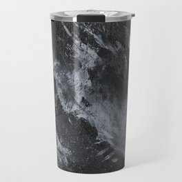 White Ink on Black Background #3 Travel Mug