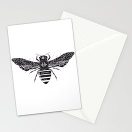 ornate bee Stationery Cards
