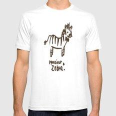 Monsieur Zebra  White MEDIUM Mens Fitted Tee