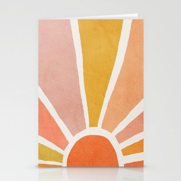 Sun, Mid century modern kids wall art, Nursery room Stationery Cards