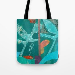 Turquoise Repeat Tote Bag