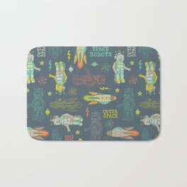 Robots from Outer space Bath Mat