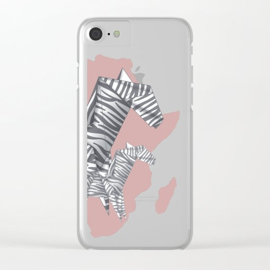ZEBRAS (Origami animals) Clear iPhone Case
