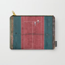 Tennis court, view of drone Carry-All Pouch