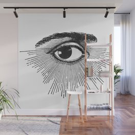 I See You. Black and White Wall Mural