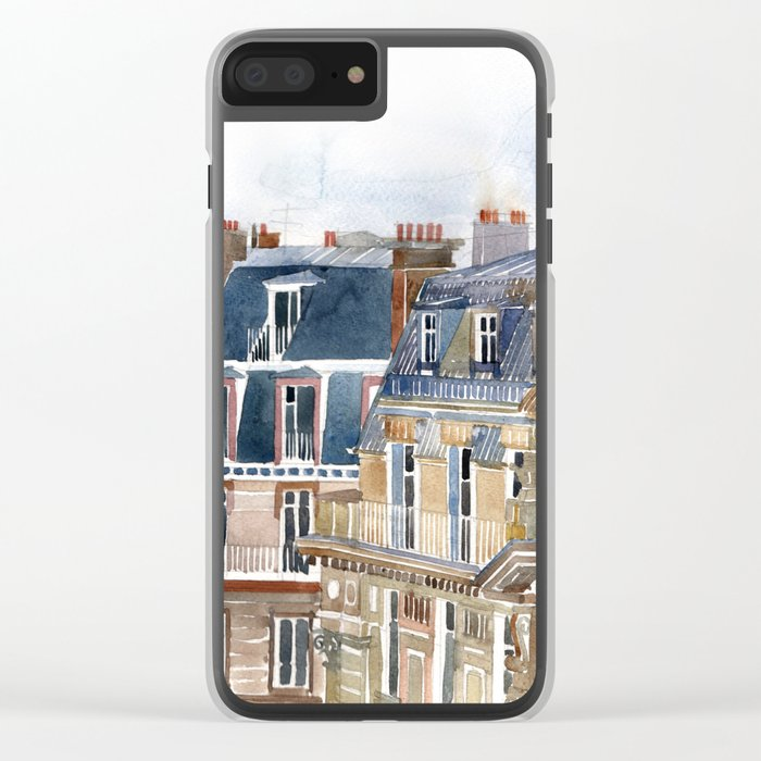 Roofs of Paris Clear iPhone Case