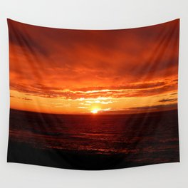 Sun Sets on the Mighty Saint-Lawrence Wall Tapestry