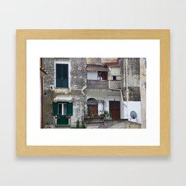 Melancholy Amalfi Framed Art Print