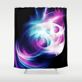 abstract fractals 1x1 reacc80 Shower Curtain