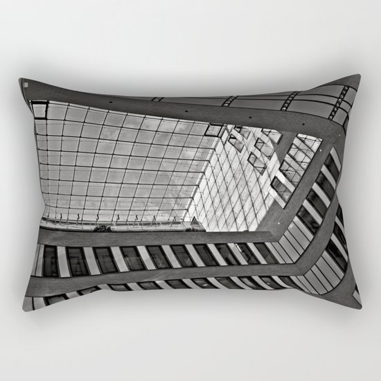 Modern Hamburg office building Rectangular Pillow