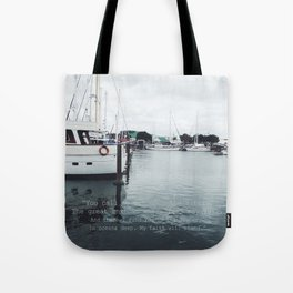 Boats and Water Tote Bag