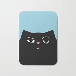 The Boss - Black Cat Illustration Bath Mat
