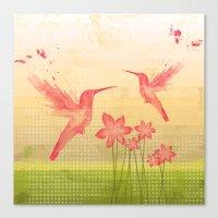 hummingbird Canvas Prints featuring Hummingbird by Kakel