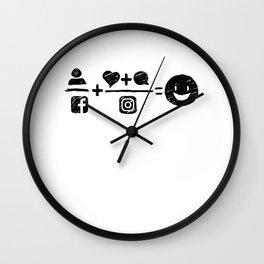 Equations Wall Clock