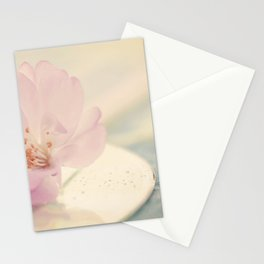 Delicate Soft Pink Blossom Flower Stationery Cards