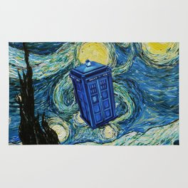 Tardis Dr. Who Starry Night Rug