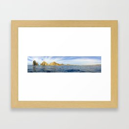 Panoramic Shot Arch Cabo Framed Art Print