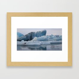 iceland haiku Framed Art Print