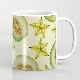 Starfruit Honey Melon pattern Design beige Coffee Mug