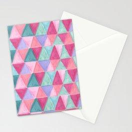 pastel triangle pattern Stationery Cards