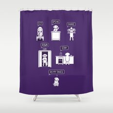 Common Commands Shower Curtain