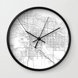 Minimal City Maps - Map Of Tucson, Arizona, United States Wall Clock