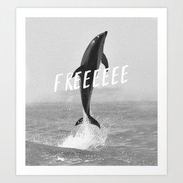 Free like a dolphin Art Print