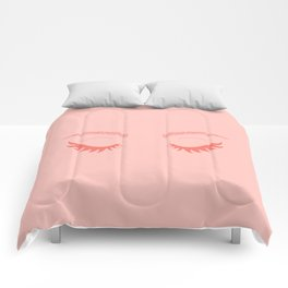 Betty Gone Batty (Coral on Millennial Pink Edition) Comforters