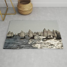 sailing race of childs Rug