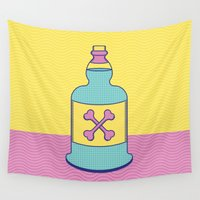 drink Wall Tapestries featuring Drink Up by erinpantz