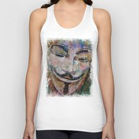 grafitti Tank Tops featuring Anonymous by Michael Creese