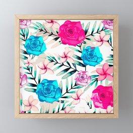 Elegant Watercolor Floral Art Framed Mini Art Print