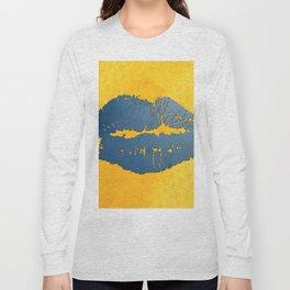 dp048-8 Watercolor kiss Long Sleeve T-shirt
